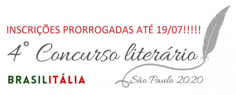 4º CONCURSO LITERÁRIO BRASILITÁLIA 2020-2021 Comites/SP – Comissão Cultura